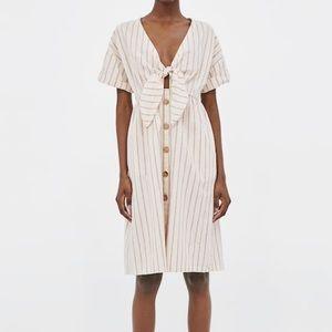 Zara Striped Knotted Dress